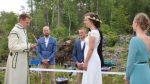 Nuntă organizată în două țări diferite, din cauza COVID-19: Mireasa a stat în Norvegia, iar mirele în Suedia